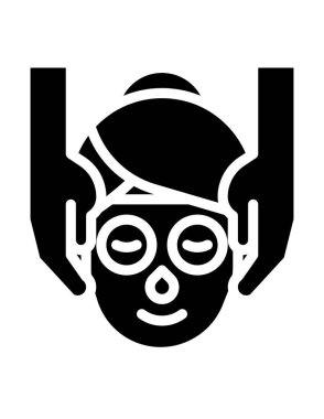 Vector illustration of a man in a mask icon