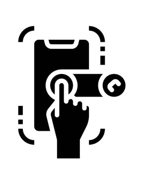Hand holding the key icon icon