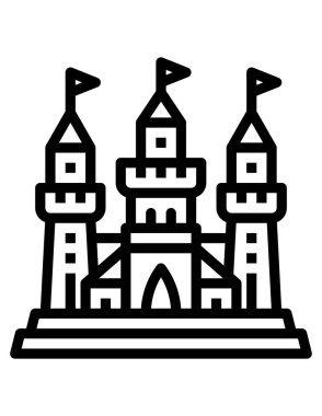 Vector illustration of Fortress icon