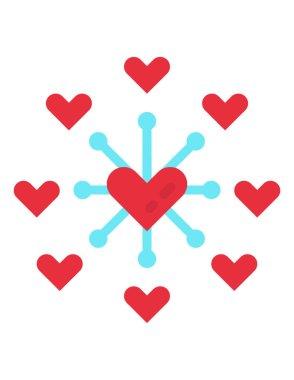 Charity concept icon, vector illustration icon