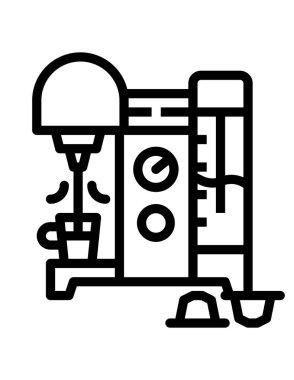Coffee icon, vector illustration icon