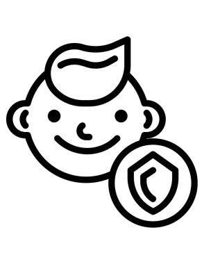 Boy with a smile face icon
