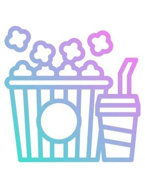 Popcorn icon,  vector illustration icon