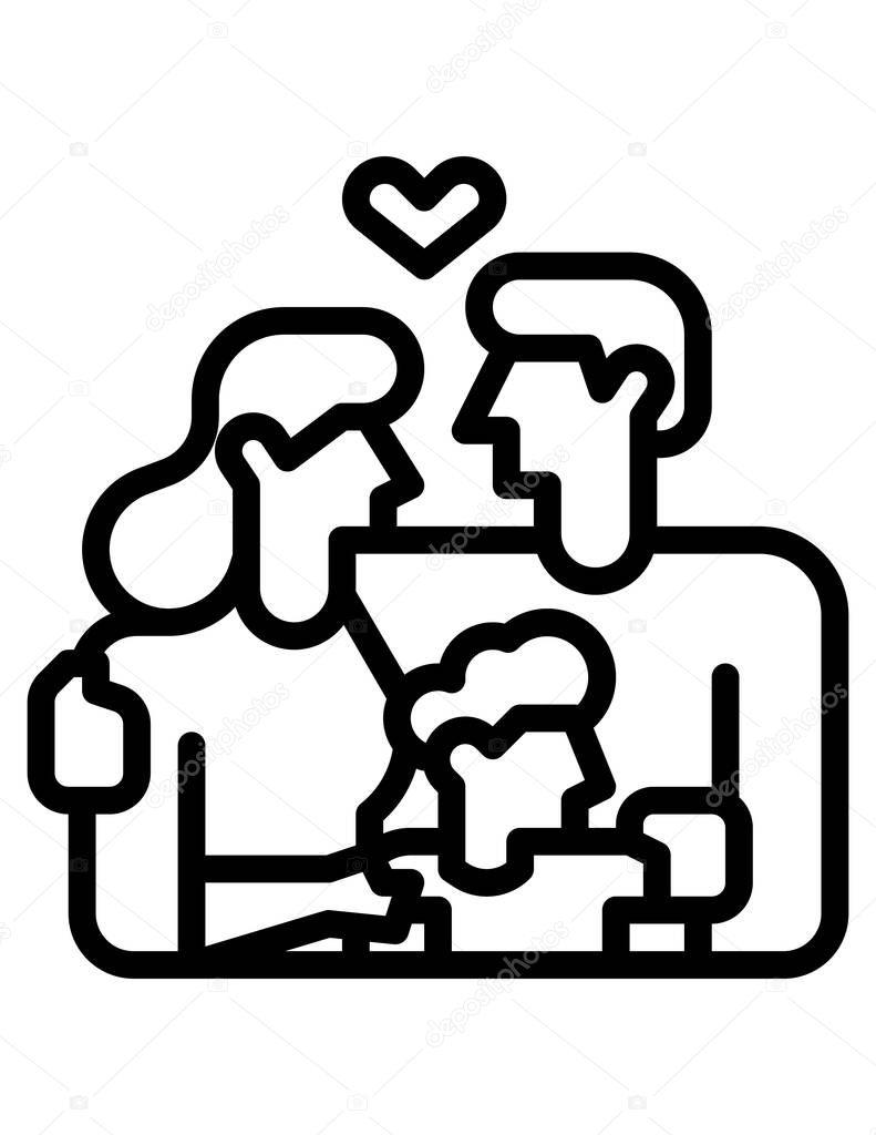 Family concept icon, vector illustration icon