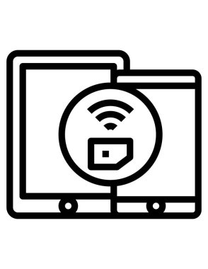 Vector illustration of mobile icon icon
