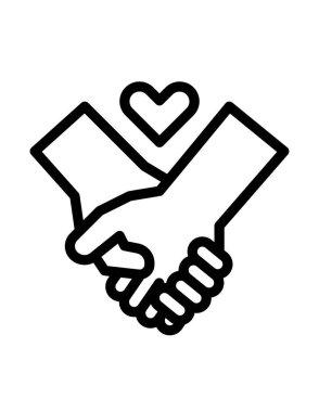 Handshake icon vector illustration icon