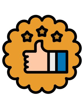 Hand holding a pack of food icon