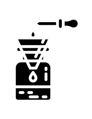 Vector illustration of ethanol extraction icon
