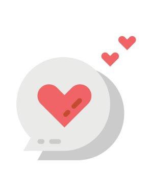 Heart flat vector icon icon
