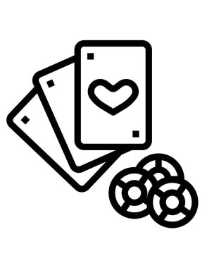 Casino cards  icon, vector illustration icon