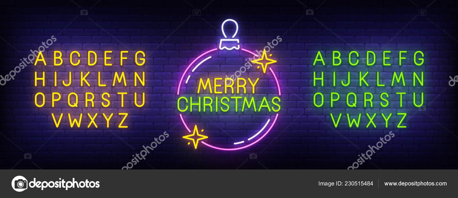 Weihnachten Bilder Bearbeiten.Frohe Weihnachten Neon Sign Hellen Schild Licht Banner Weihnachten