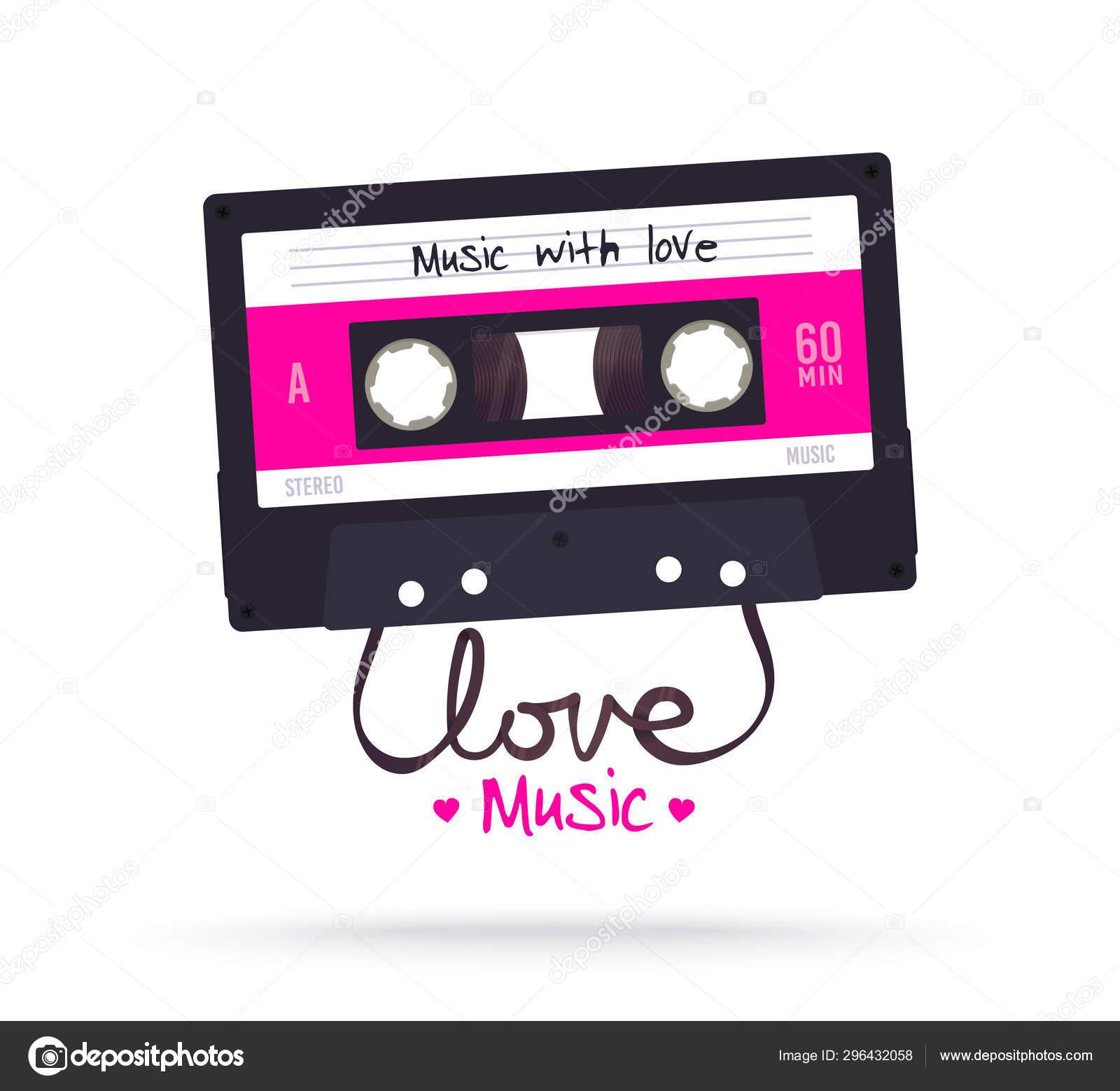 Retro cassette  Vintage music tape  Mixtape  Music album