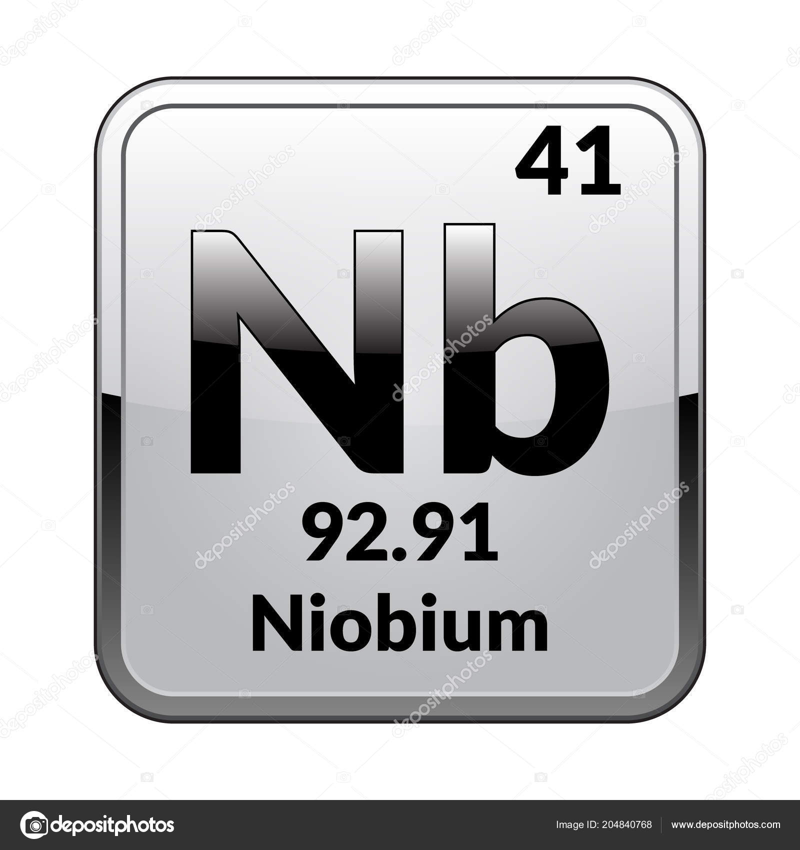 Niobium Element Periodic Table Restaurant Interior Design Drawing