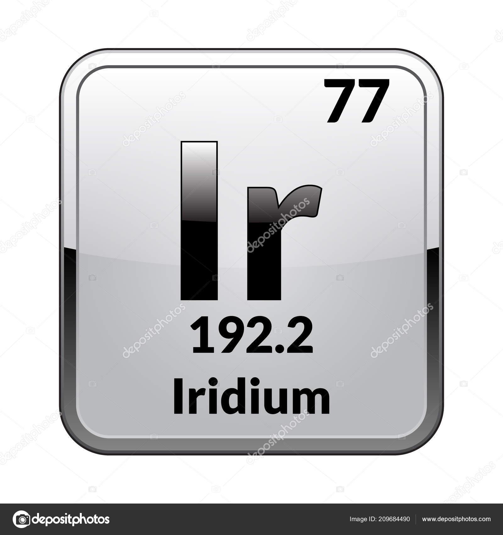 Iridium Symbol Chemical Element Periodic Table Glossy White
