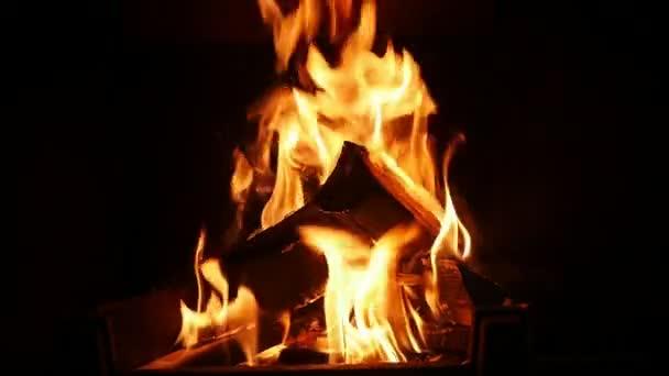 Živé proudy požár dřevěné hranoly stává černým popelem v detailním inspirující krb plamenech vidlic červené a žluté ohně hořící uhly a dřevěné trámy v krbu. Vypadá to veselé a svěží.