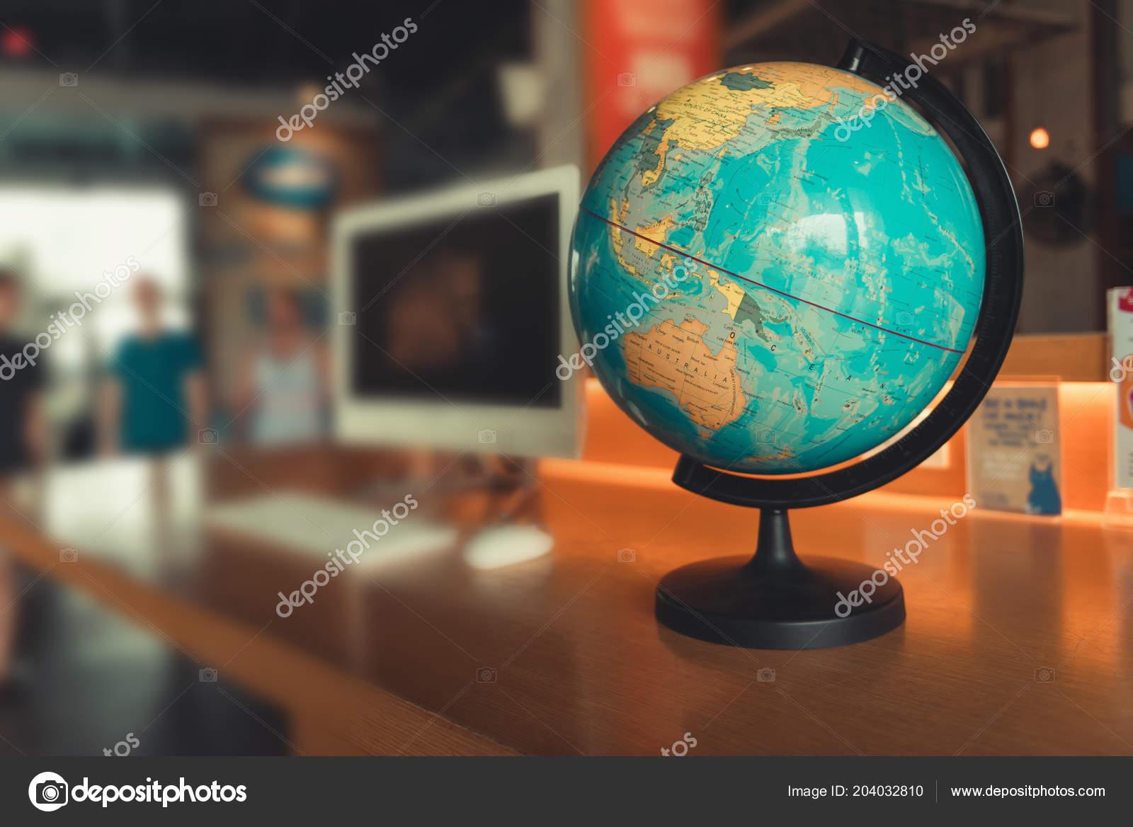 Globe World Map Computer Desktop World Travel Explore Destination Concept Stock Photo Image By C K D P 204032810