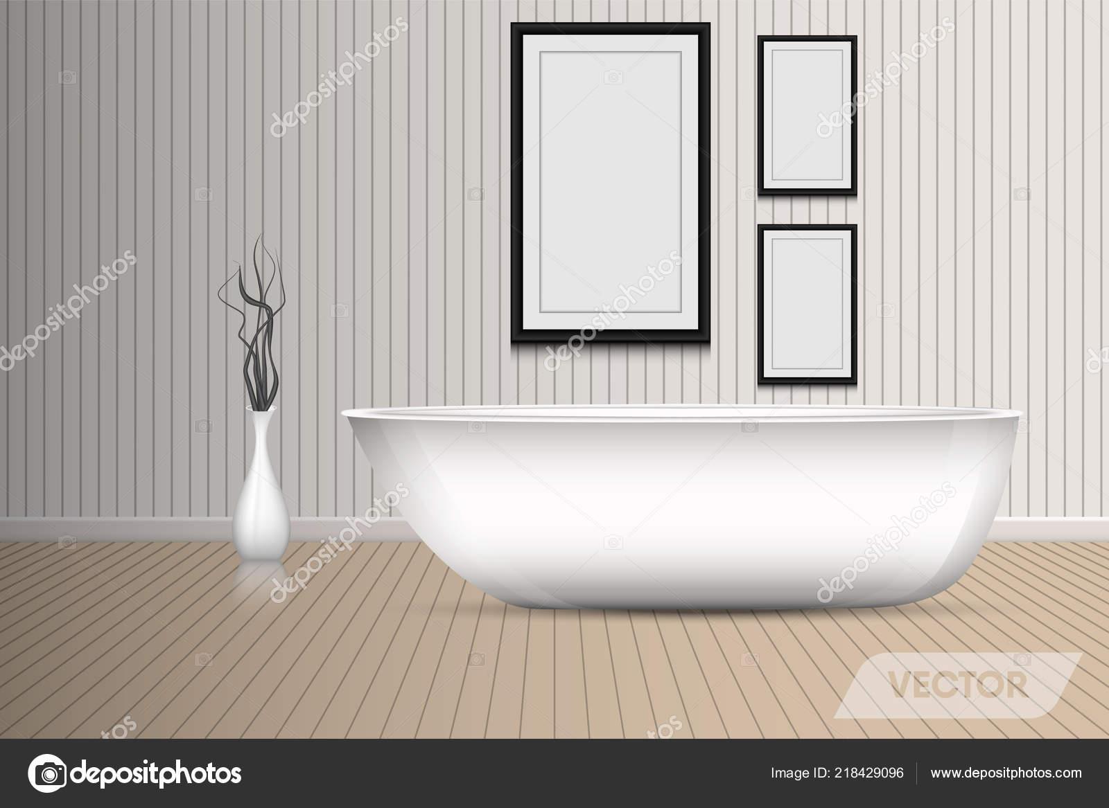 Vasche Da Bagno Design Moderno : Vasca bagno doccia moderno interior design decorative art vettore