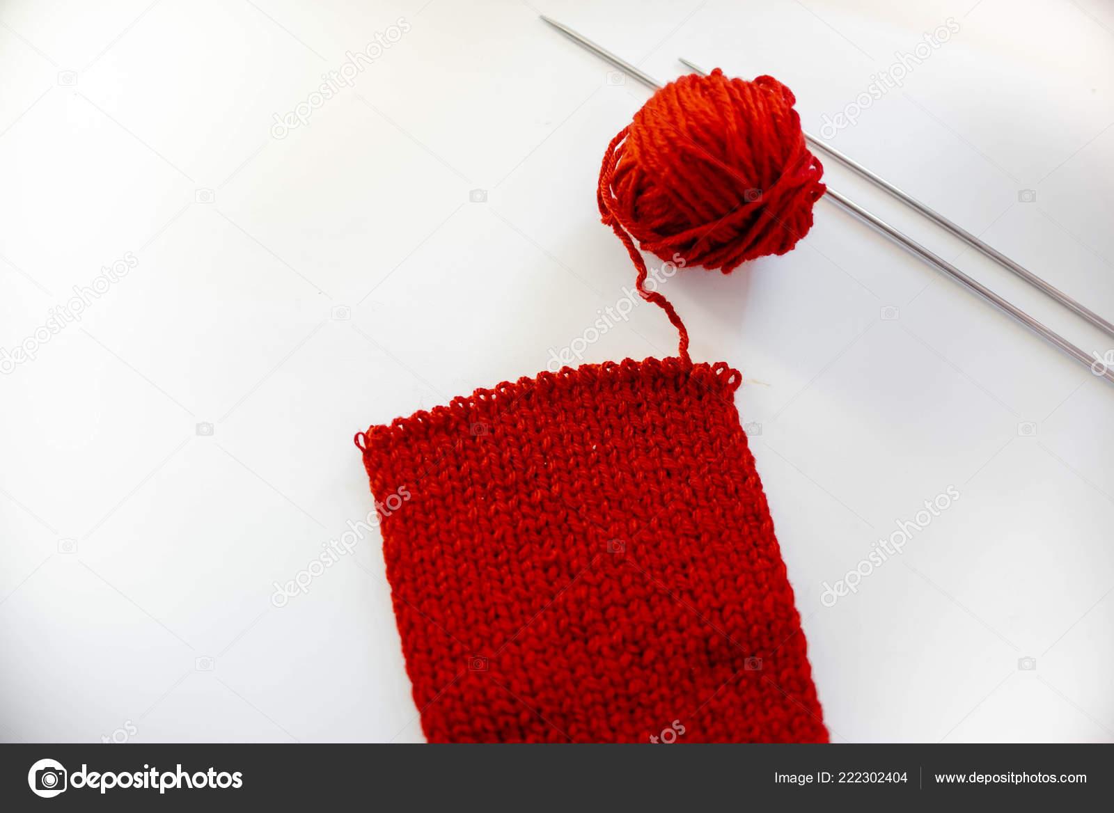 Bufanda Punto Rojo Acabada Actividades Tiempo Libre Hobby Hilos ...
