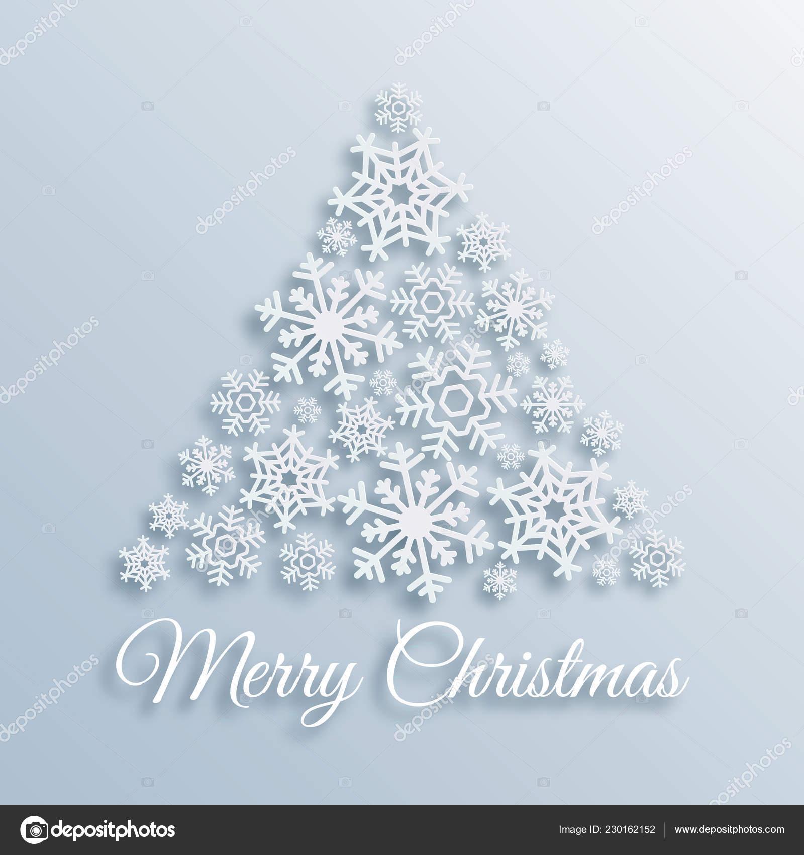 Auguri Di Buon Natale Eleganti.Carta Stile Cartolina D Auguri Di Buon Natale Con L Albero Di Natale