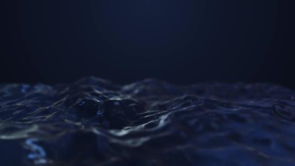 Tmavě modré abstraktní vlny