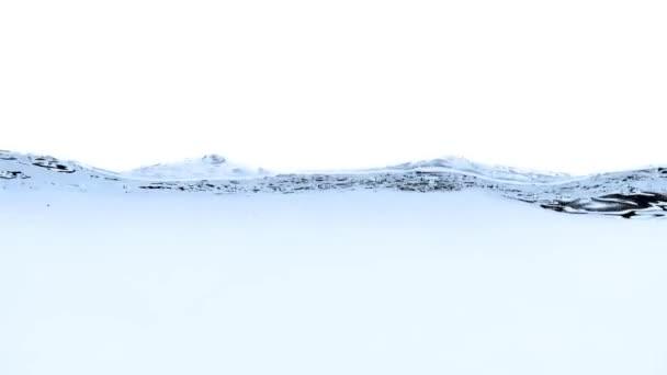 modrá voda splash na bílém pozadí