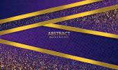 Moderní abstraktní tmavě modrý vektor pozadí. Elegantní design tvaru se zlatou linií. Zlatý banner zlatý luxusní světlo barva pozadí.
