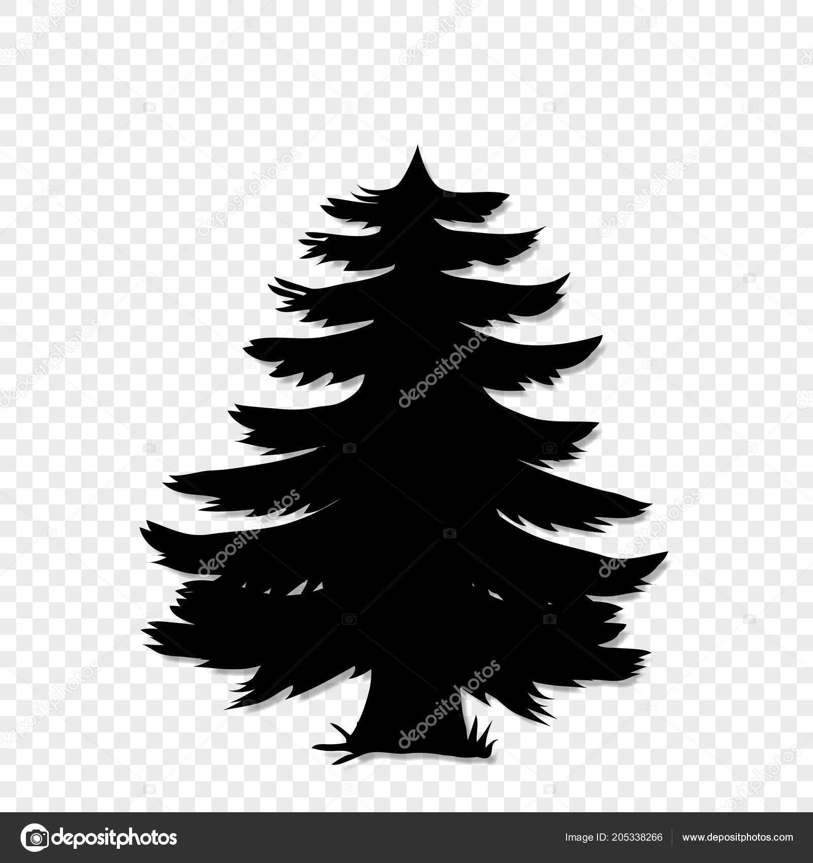 Clipart Tannenbaum Schwarz Weiß.Schwarze Silhouette Tannenbaum Clipart Grafik Auf Transparenten