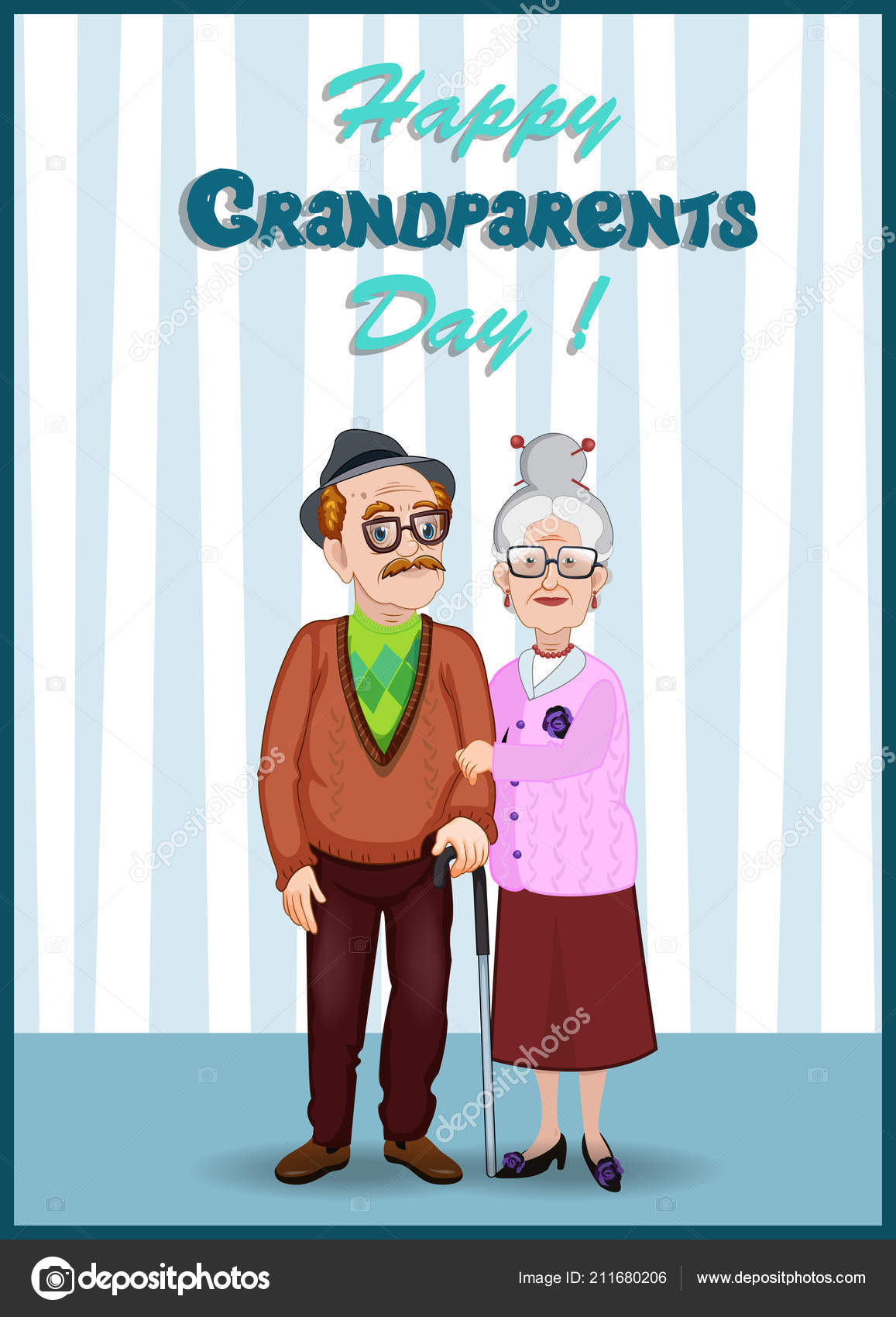 Wishes to Grandpa Happy Elderly Man 75