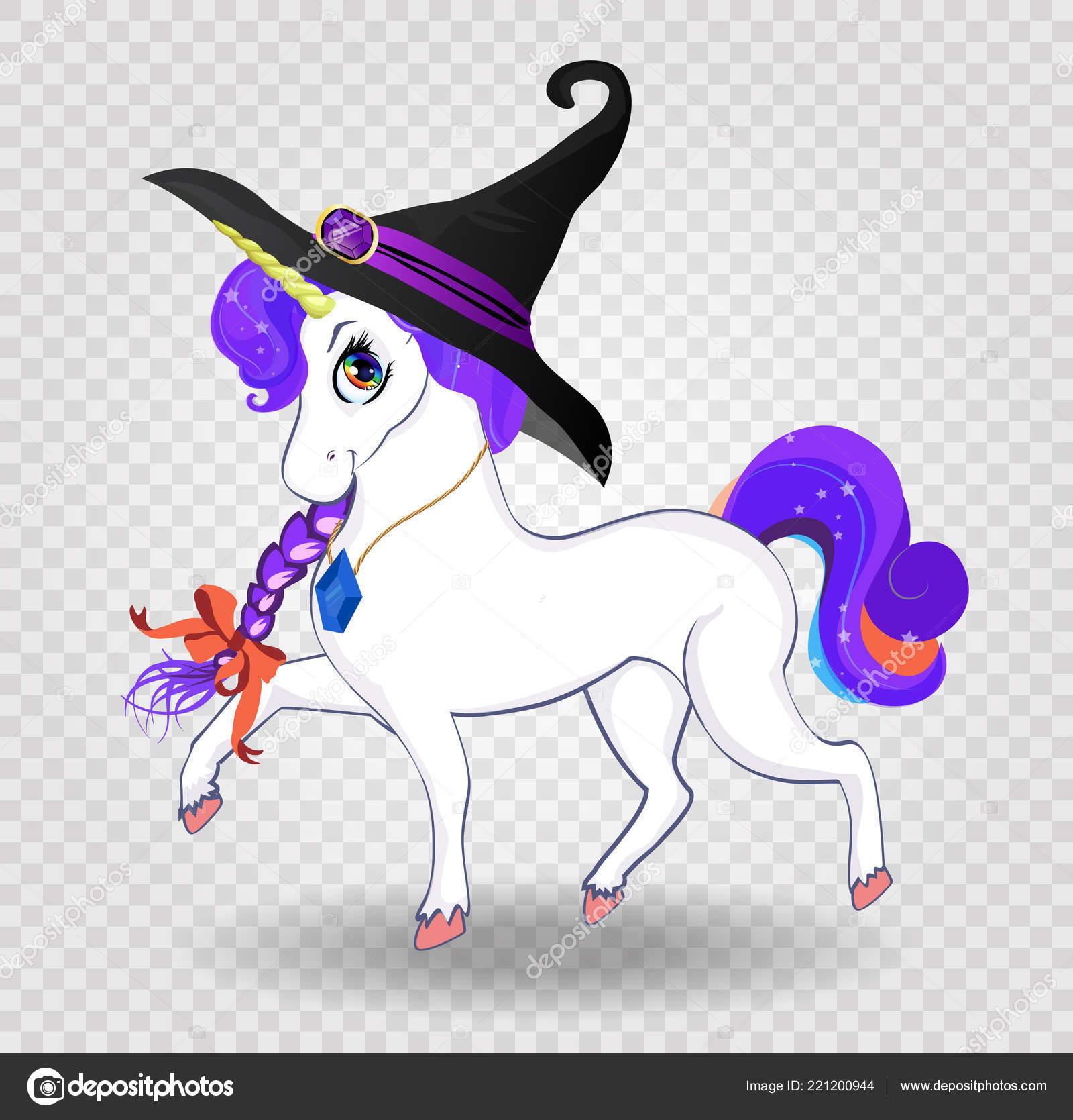3466ffe4cc Ilustração Vetorial Halloween Personagem Unicórnio Mágico Bonito Dos ...