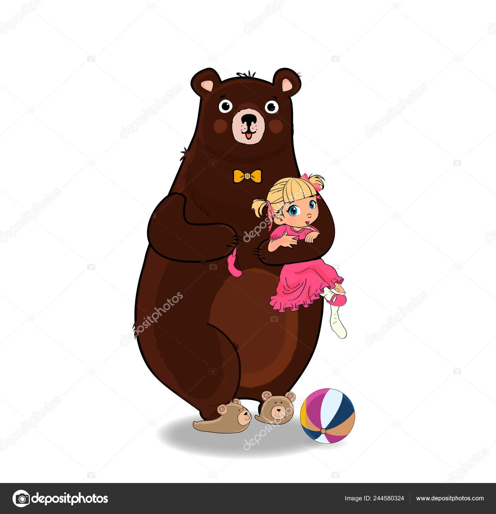 91797b121972 ... vestido con corbata y zapatillas en abrazarse y celebrar en patas  Kawaii poco niña descalza en el vestido de princesa rosa aislada sobre  fondo blanco.