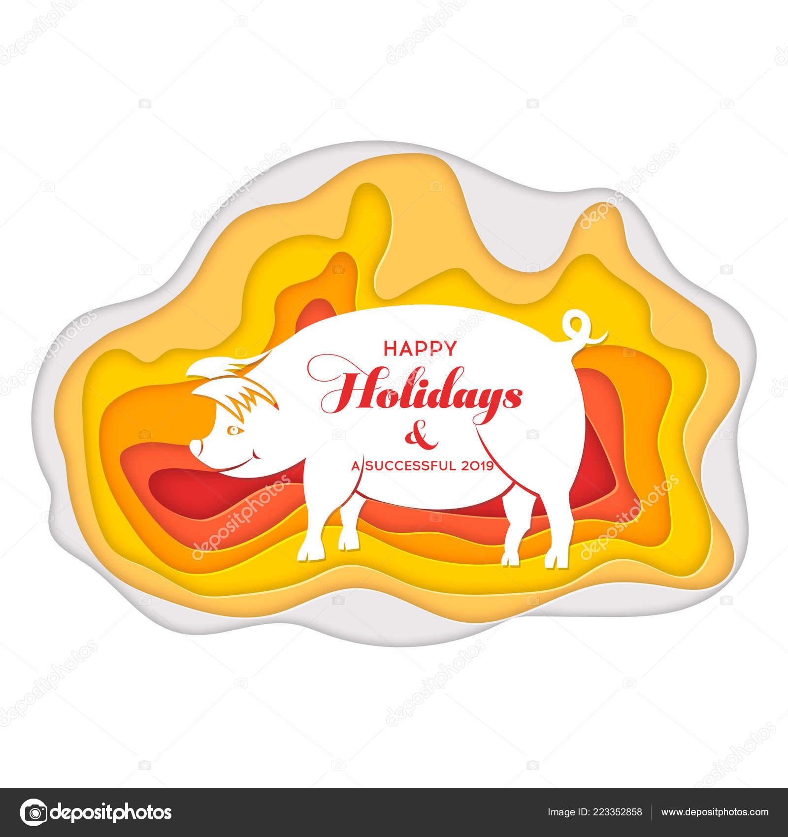 Oroscopo Cinese Maiale 2019 cinese dello zodiaco segno anno del maiale, carta rossa
