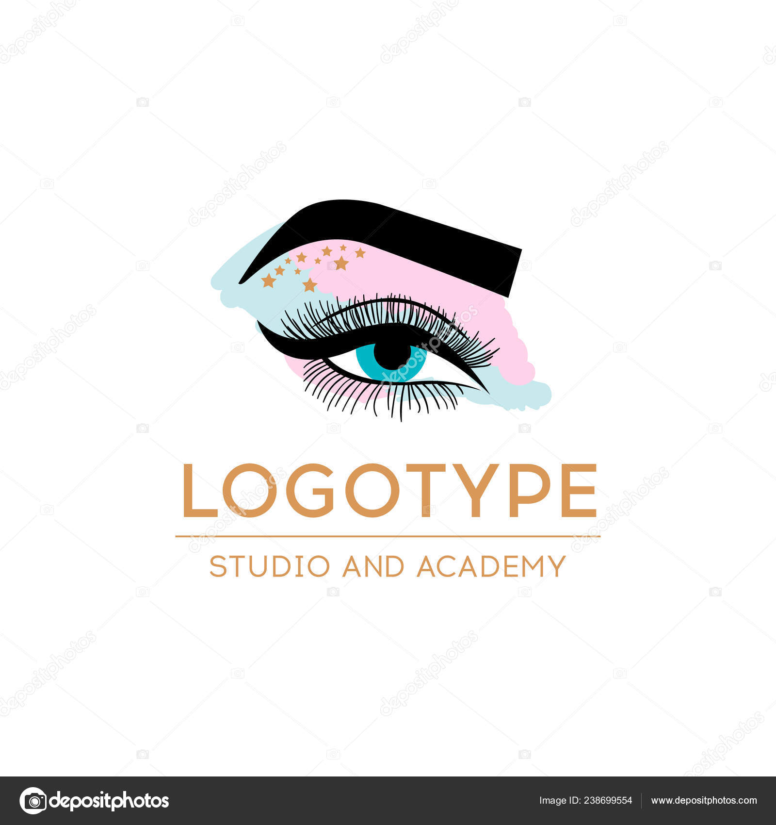 117bc8688f5 Luxury Beauty Eye Lashes Logo. Eyelash extension logo. Vector illustration  in a modern style