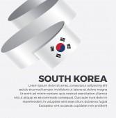 Vlajka Jižní Koreje pro dekorativní. Vektorový pozadí