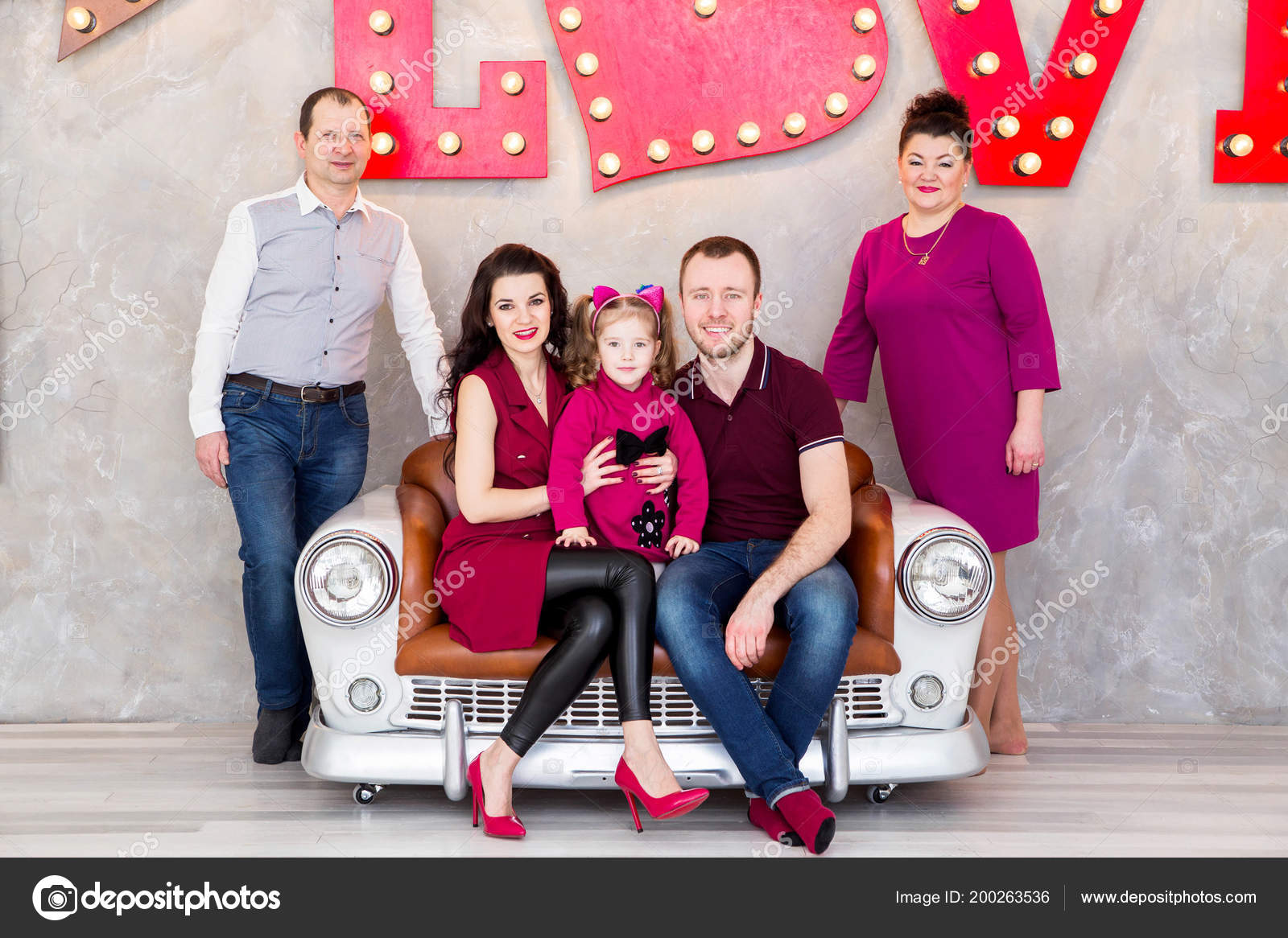 Photo Big Family Studio Background Scenery Stock Photo C Ribalka