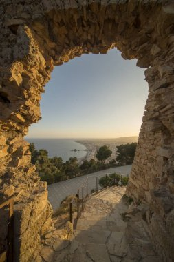 Blanes on the Costa Brava from the castle