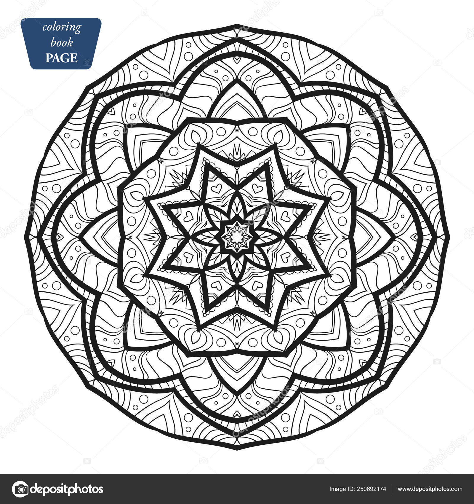 Mandala Coloring Book Pages Indian Antistress Medallion Abstract Islamic Flower Arabic Henna Design Yoga Symbol Vector Illustration G Vector Image By C Veeksegal Vector Stock 250692174