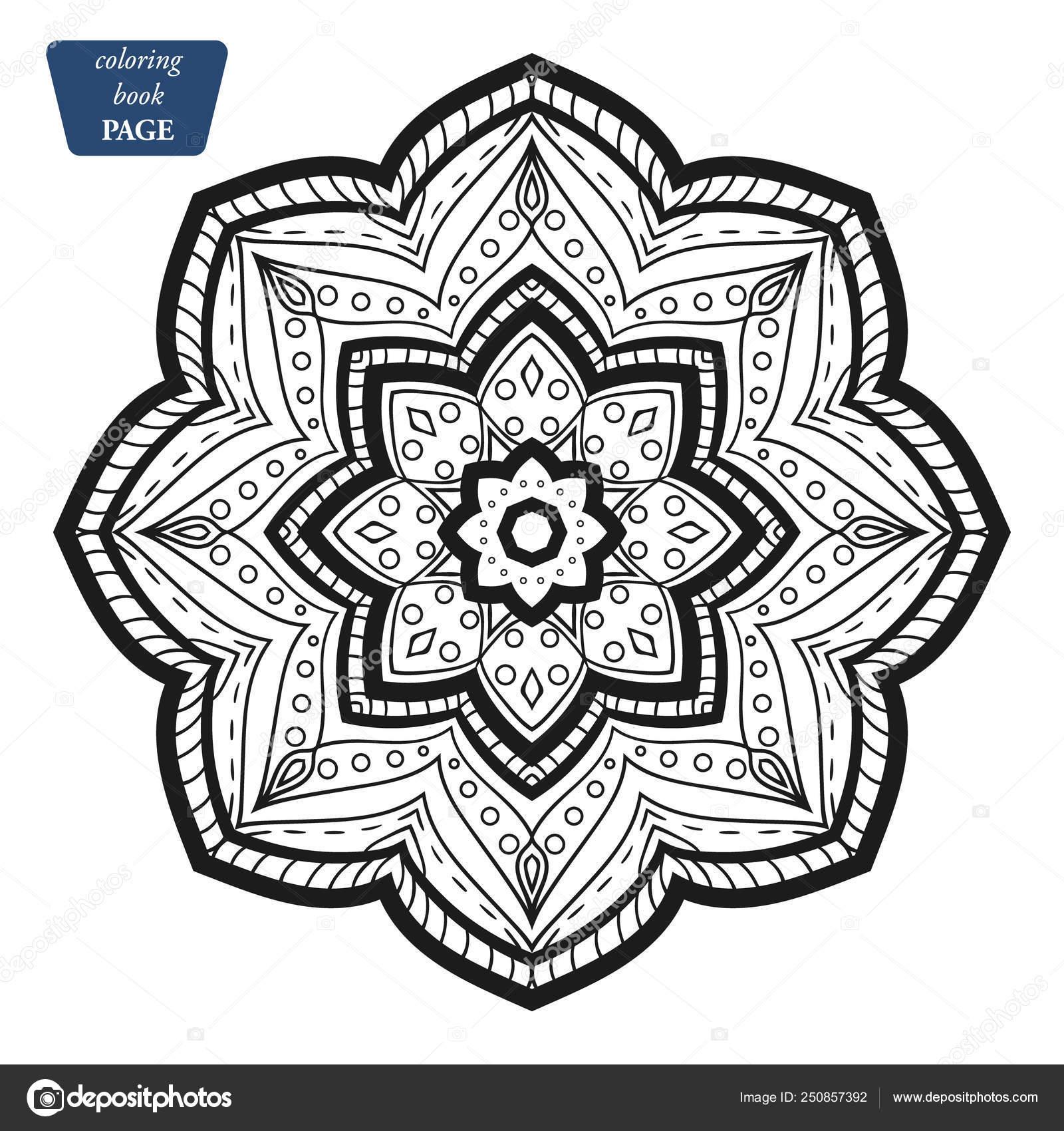 Mandala Boyama Kitabı Sayfaları Hint Antistress Madalyon