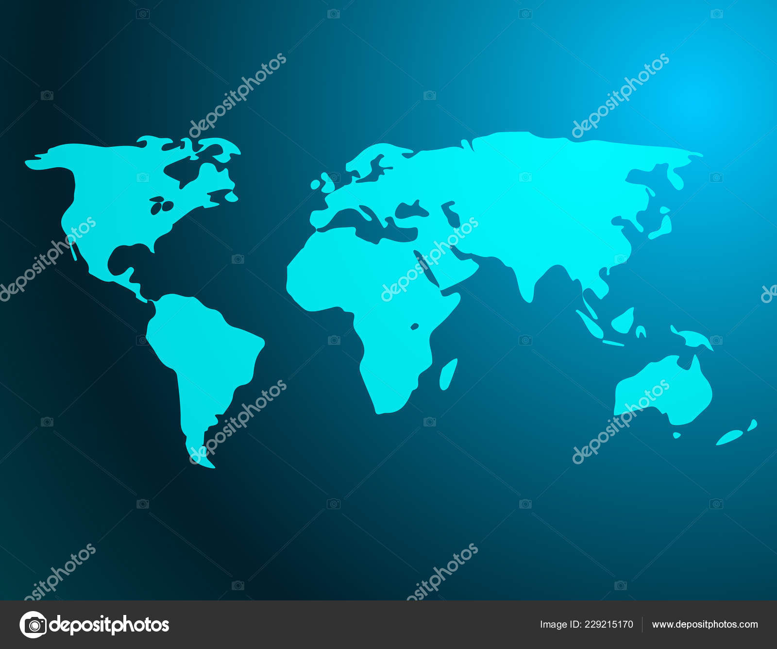 Banner Silhouette World Map Vector Illustration Stock Vector