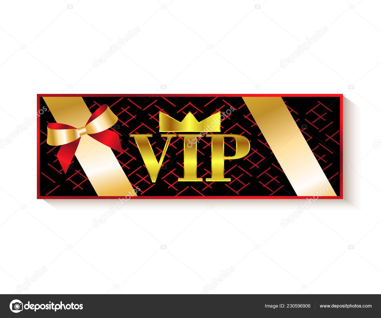 Tarjetas Invitación Vip Premium Vector De Stock