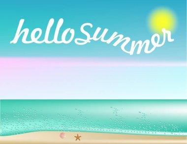 Hello summer banner decor