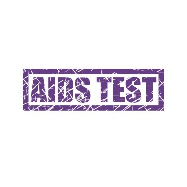 AIDS Test watermark stamp isolated