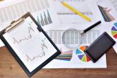 Photo Economical stock market graph . business background