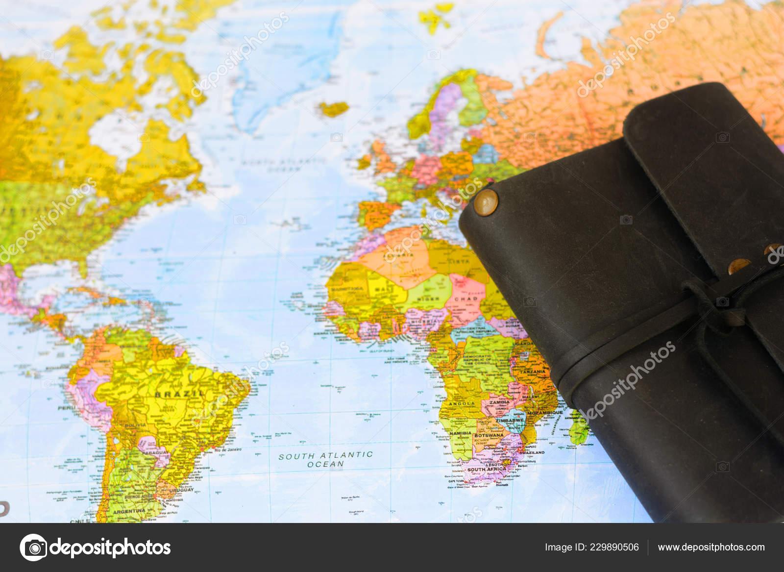 World Map Purse Travel Tourism Stock Editorial Photo C Miztanya