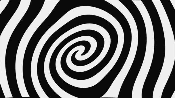 schwarz-weiße hypnotische Spirale, Schleife