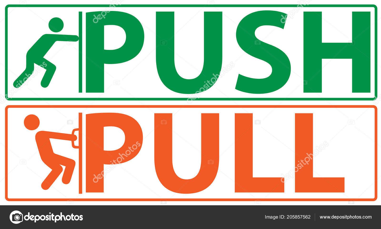 push pull vector illustration stock vector vitizh 205857562
