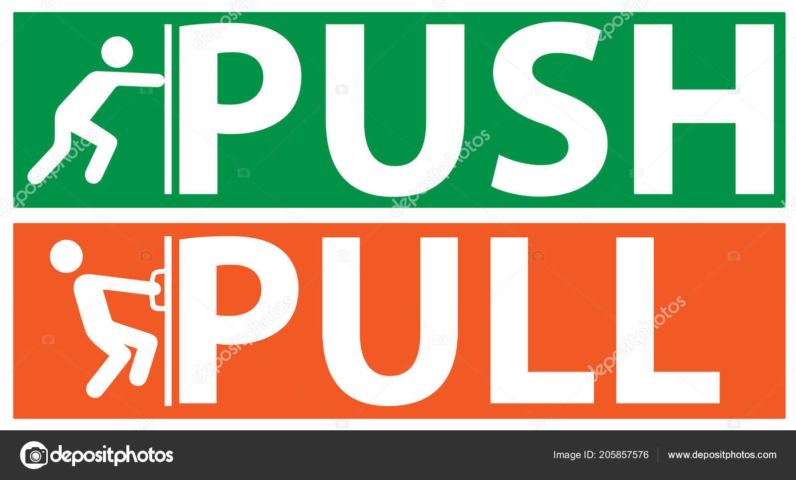 Push pull vector illustration stock vector