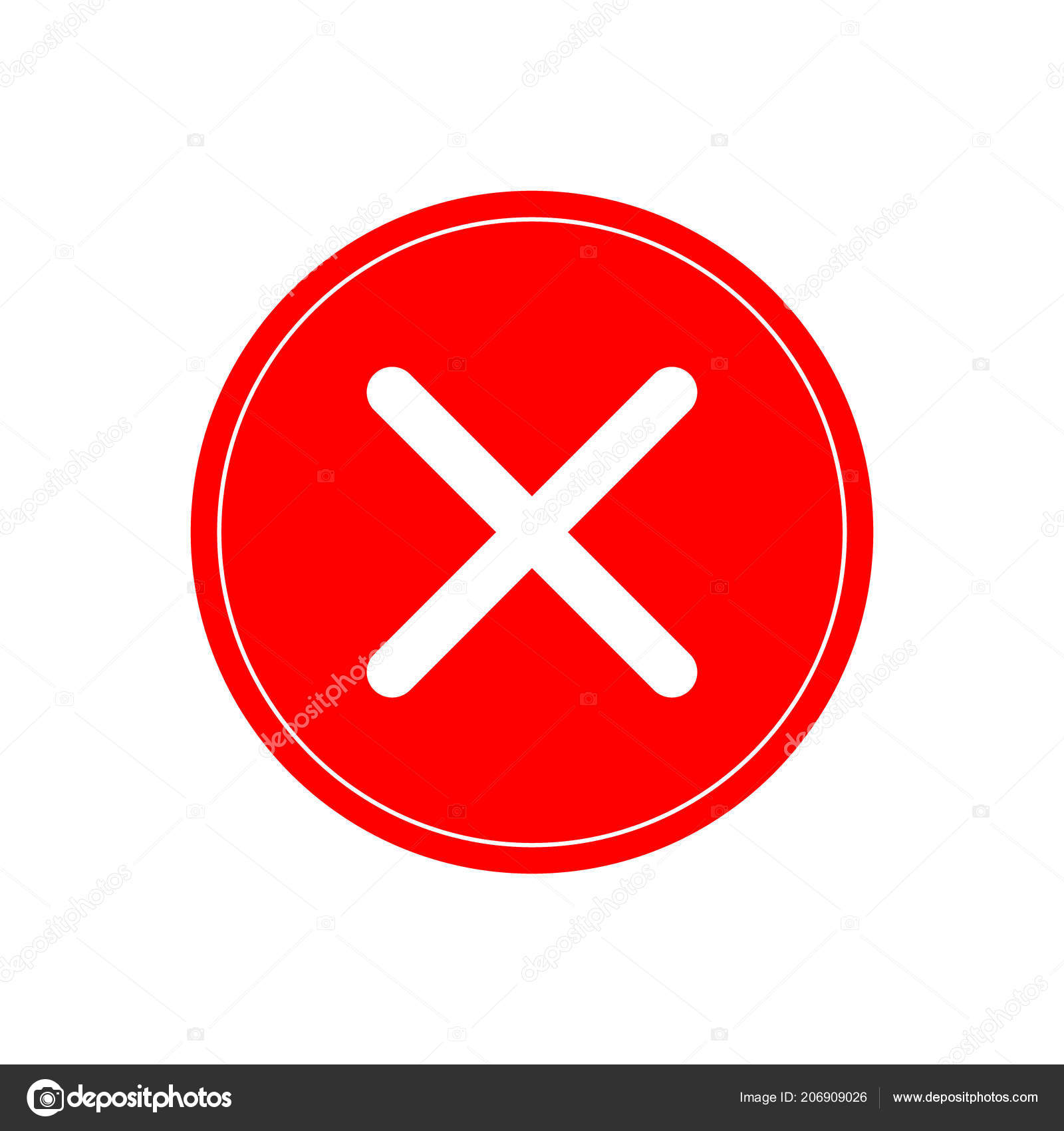 Red Tick Red Cross Tick Symbol Badge Red Sign Done — Stock Vector