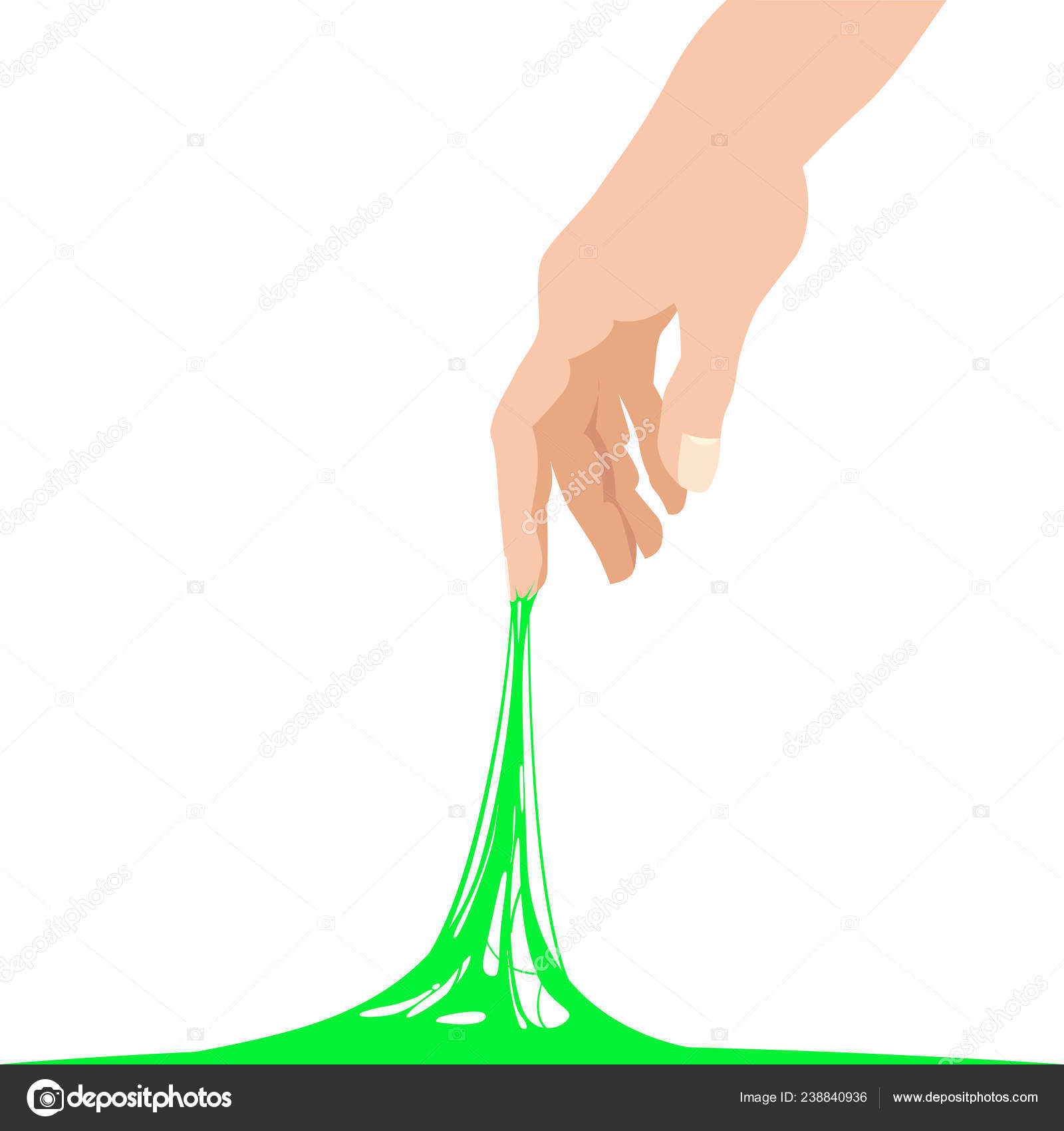 Sticky Slime Reaching Stuck For Hand Green Banner Template Popular