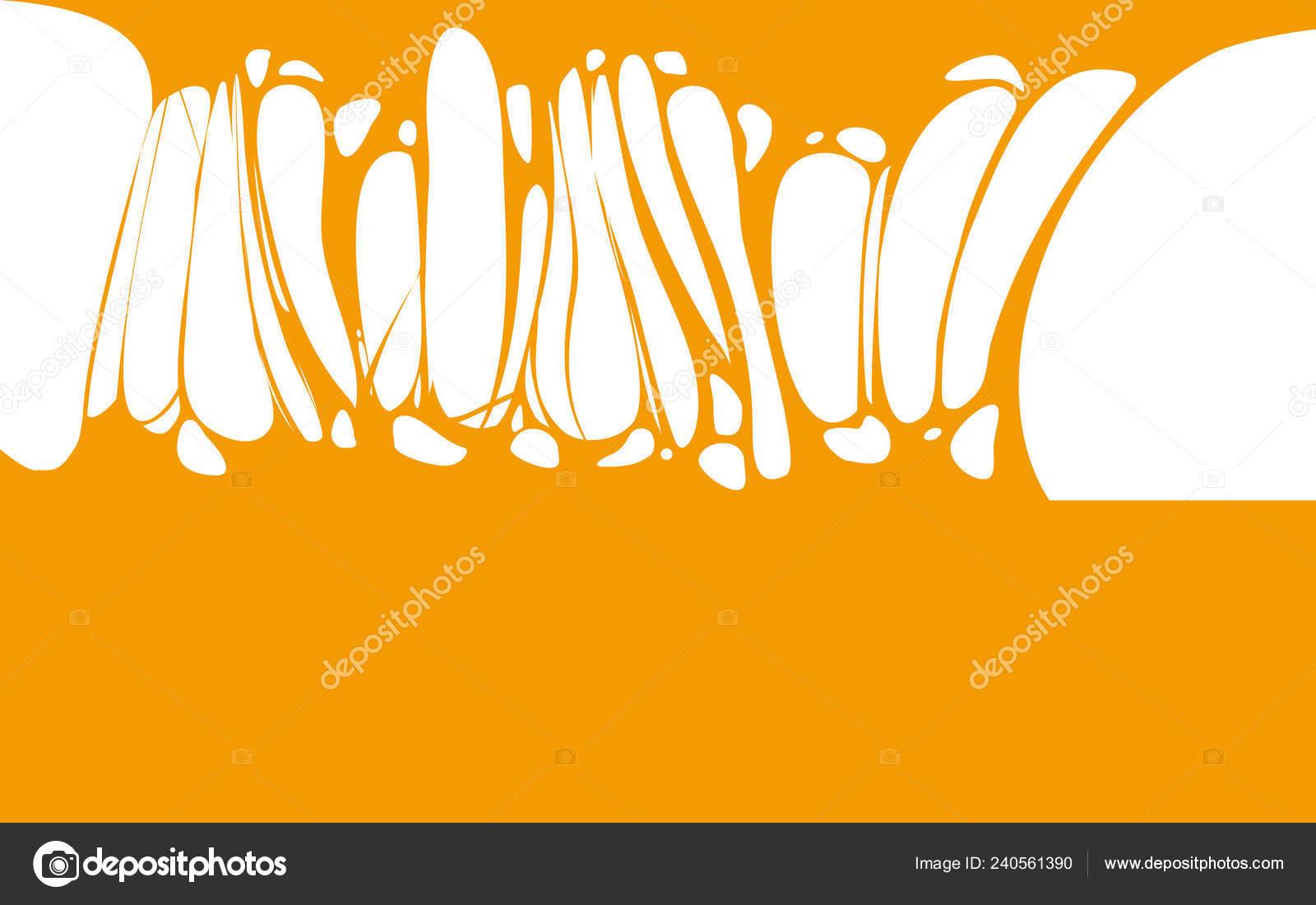 Slime Sticky Orange Honey Banner Spittle Snot Frame Of Scary