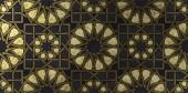 Fotografie Pozadí návrhu ilustrace na základě tradiční orientální grafické motivy. Islámská dekorativní vzor s golden umělecké texturou. Arabský etnické mozaiky s prokládání linie a geometrické ornamenty kachlová